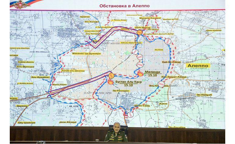 Aviones rusos y sirios detienen bombardeos sobre Aleppo