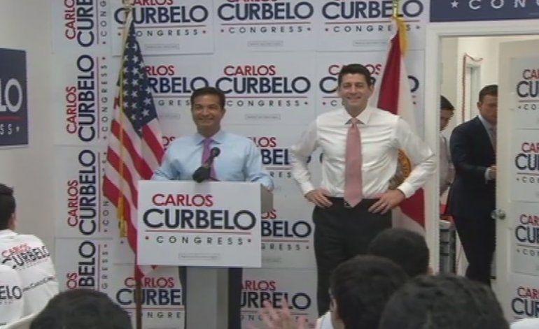 Paul Ryan hizo campaña por el congresista republicano Carlos Curbelo