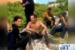 imagenes de 17 balseros cubanos desembarcan en isla mujeres, mexico