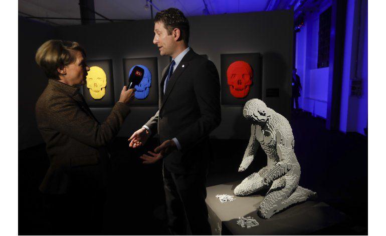 Exhiben esculturas hechas con Lego en Milán