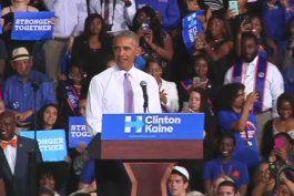 obama realiza acto de campana en miami en favor clinton