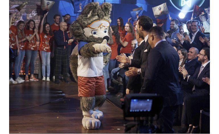 Un lobo con gafas, la mascota del Mundial de Rusia