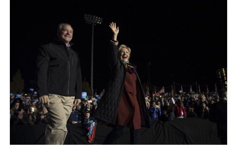 Clinton busca reforzar a candidatos demócratas al Congreso