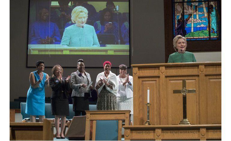 Clinton mira más allá de Trump y apoya a otros demócratas