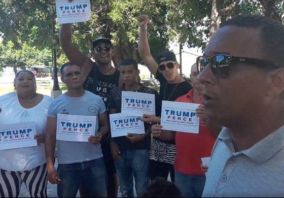 Cubanos en la Habana dicen NO a Hillary Clinton, y SI a Donald Trump