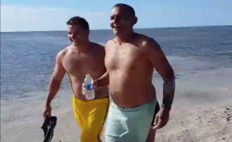 Salen a la luz otros dos vídeos de los balseros que llegaron a nado a los cayos de la Florida