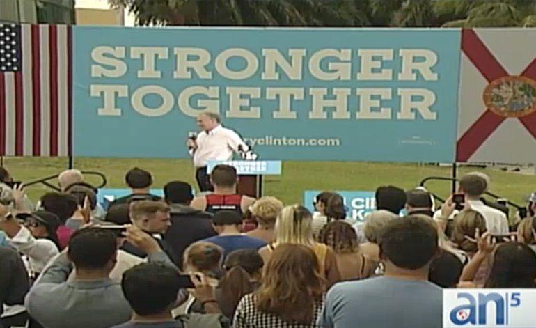 Comienza la votación en el sur de la Florida mientras que Tim Kaine visita Miami