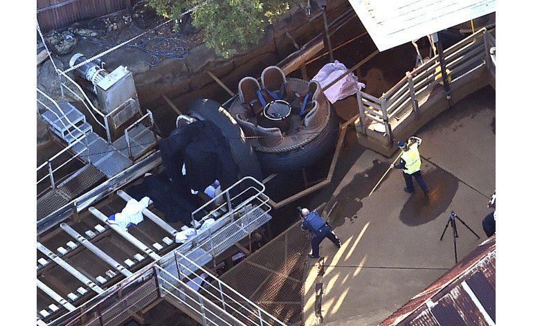 Australia: 4 muertos en un accidente en parque temático