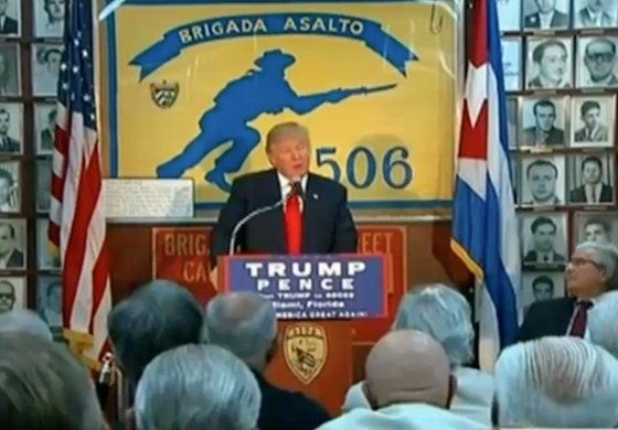 Trump visita brigada 2506 en Miami