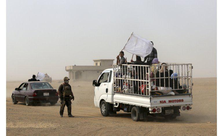 Irak evacúa a mil civiles del frente en la campaña de Mosul