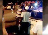 violencia policial en  aeropuerto jose marti