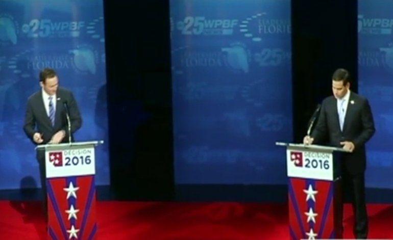 Cara a cara Marco Rubio y Patrick Murphy en debate por el senado