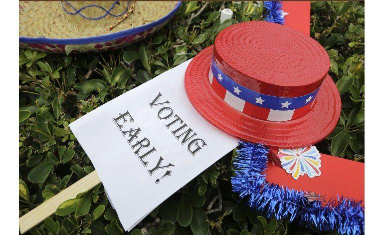 Voto anticipado, buen augurio para Clinton en estados clave