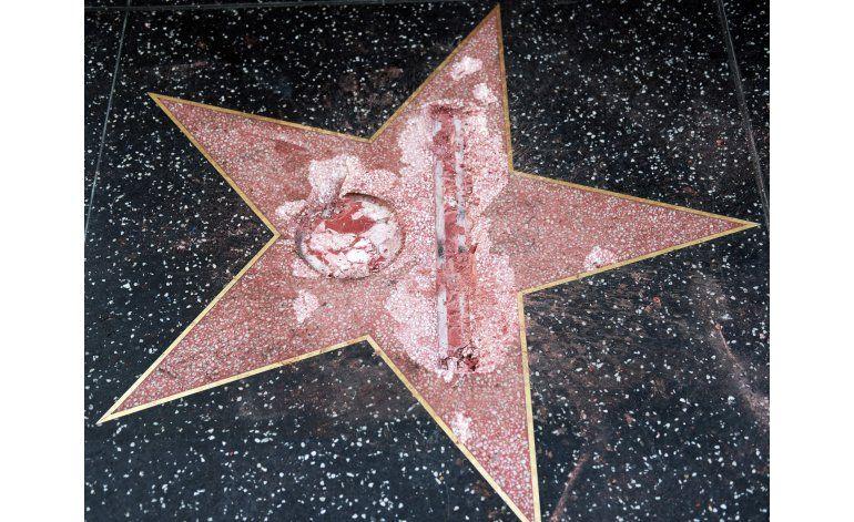 Arrestan sospechoso de vandalizar la estrella de Trump