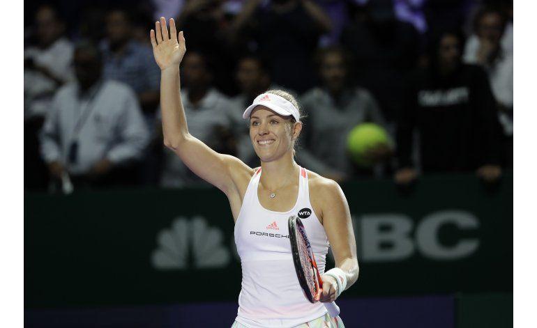 Kerber disfruta su ascenso a la cima del tenis