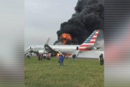 avion con destino a miami se incendia en chicago