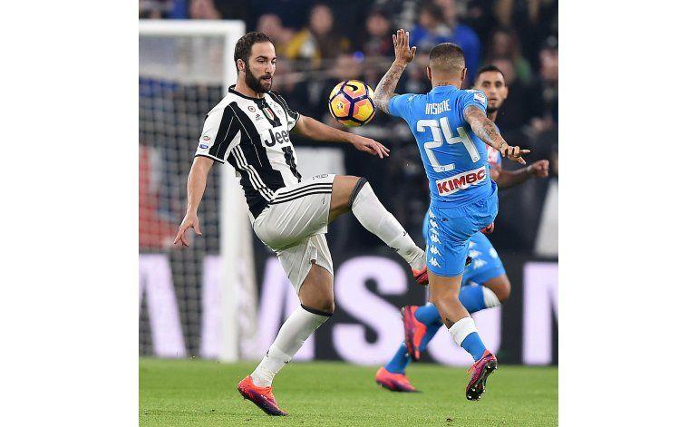 Higuaín decide triunfo de la Juve sobre Napoli