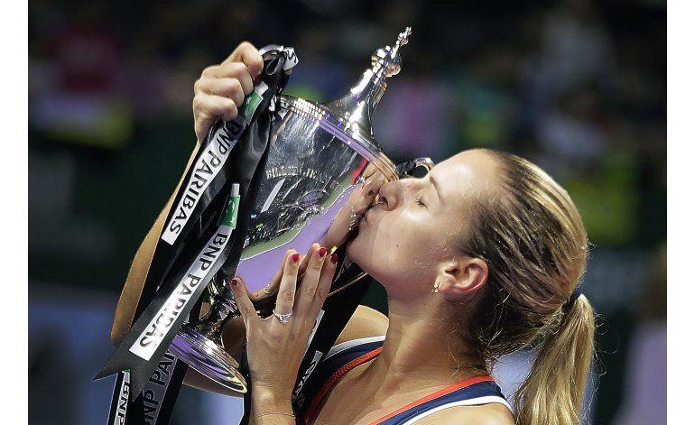 Cibulkova sorprende a Kerber y gana Copa WTA