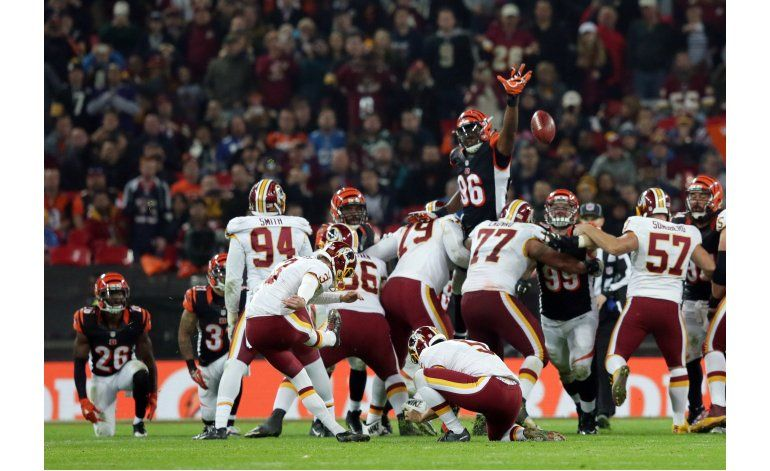 Redskins y Bengals empatan en Londres
