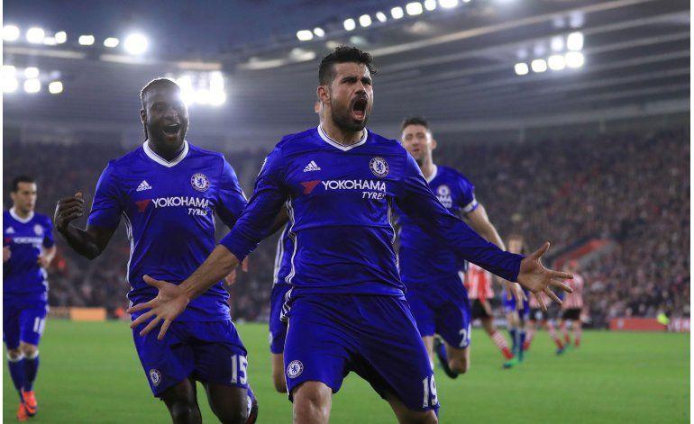 Hazard y Costa anotan en la 4ta victoria seguida de Chelsea