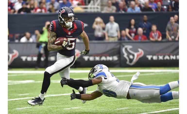 Texans se mantienen invicto en casa al vencer a Lions