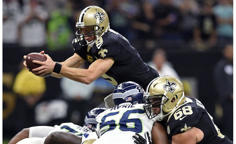 Brees y Saints sorprenden a Seahawks