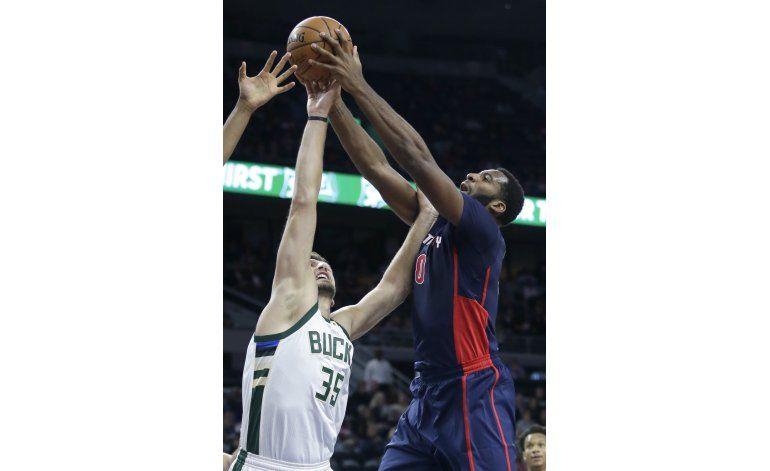 Gran noche de Drummond mantiene racha positiva de Pistons