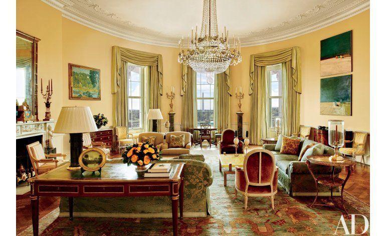 Fotos revelan salones privados de la Casa Blanca