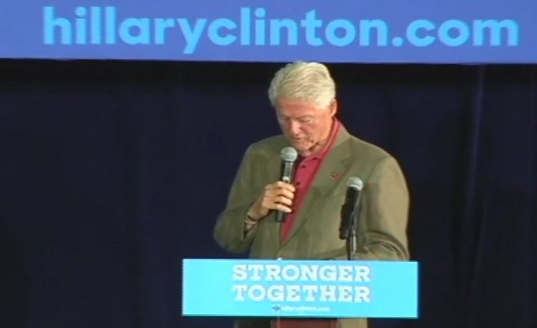Bill Clinton hace campaña por Hillary en el sur de la Florida