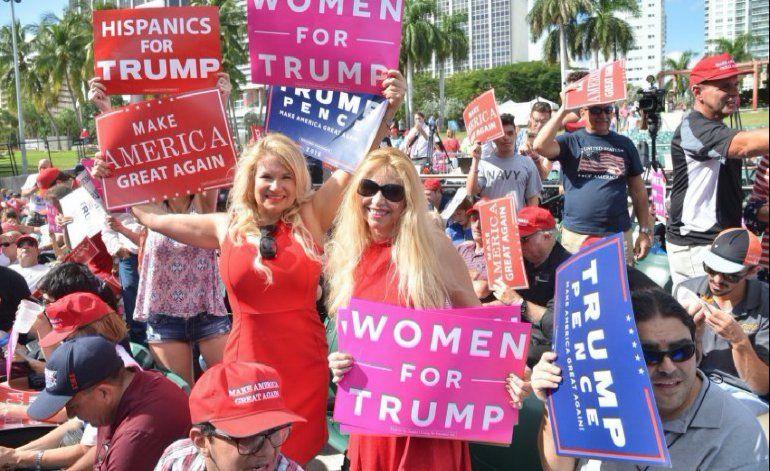 Trump en Miami promete mano dura contra los gobiernos de Cuba y Venezuela
