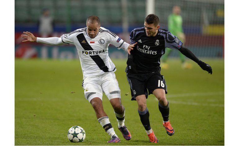 Madrid empata 3-3 ante el Legia; Dortmund avanza