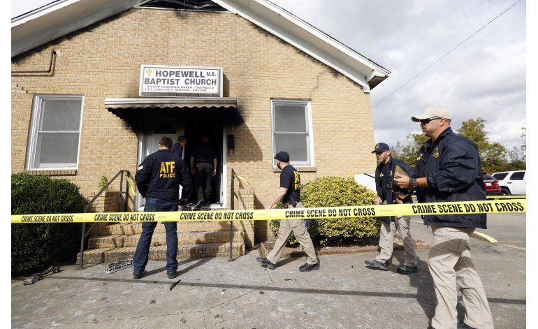 Incendio de iglesia en Mississippi fue intencional