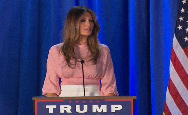 Melania Trump dio discurso en Pensilvania
