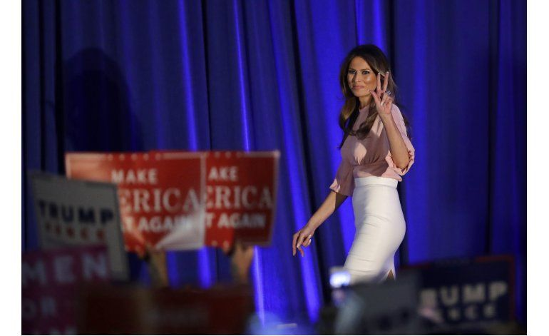 Melania Trump promete luchar contra acoso como primera dama