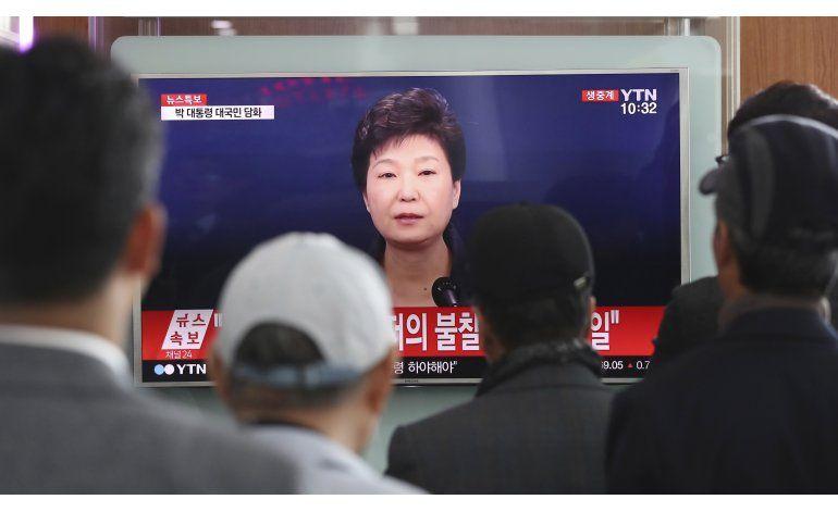 Presidenta surcoreana: El escándalo es todo culpa mía
