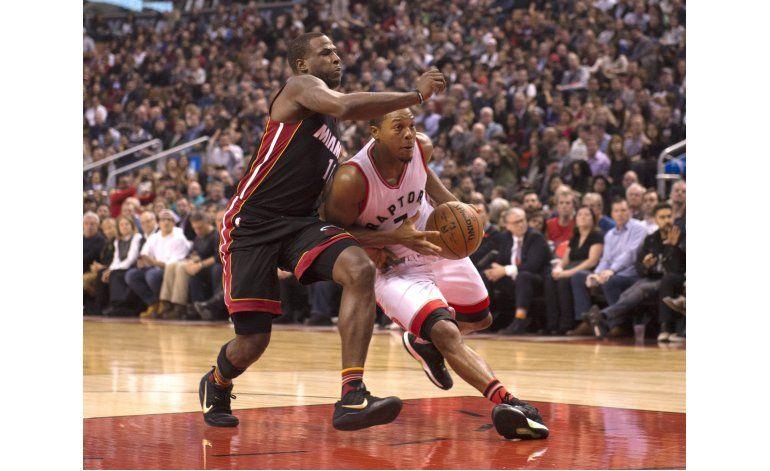 DeRozan anota 34 y Raptors doblegan al Heat