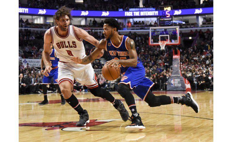 Knicks vence 117-104 a Bulls en el regreso de Rose y Noah
