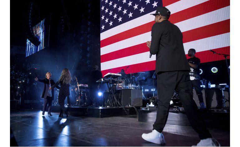 Clinton hace campaña con un concierto de Beyoncé