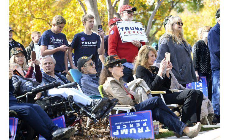 EEUU, nación dividida al acercarse la elección presidencial