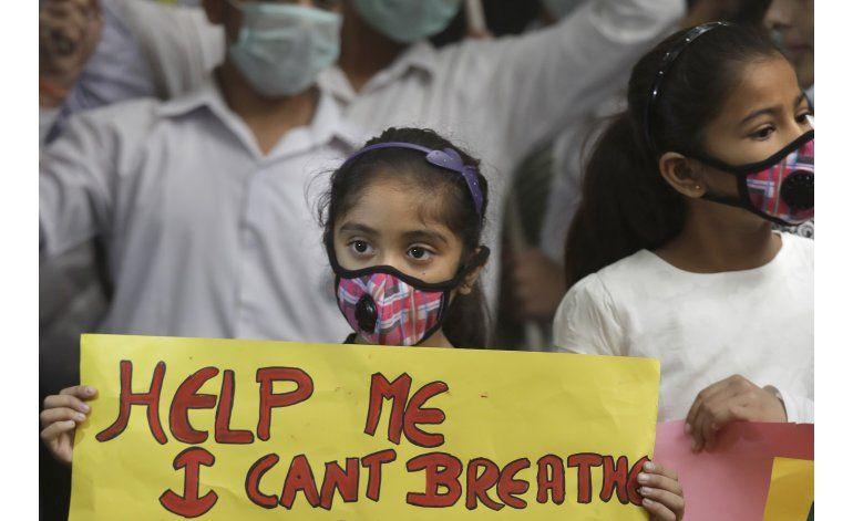 Cierran escuelas en India debido a la contaminación