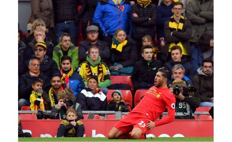 Liverpool se exhibe ante Watford y queda como único líder