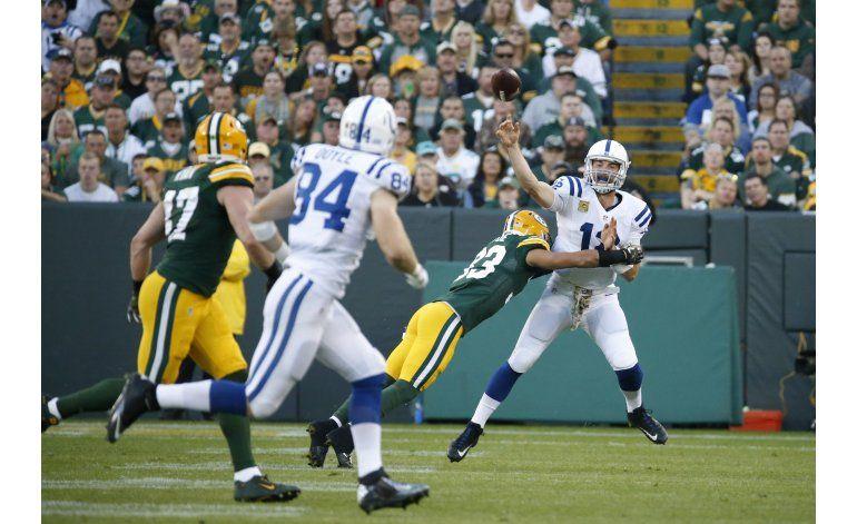 Colts rescatan valiosa victoria de 31-26 en Green Bay