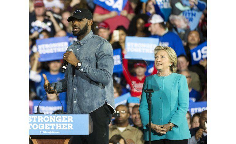 LeBron James hace campaña a favor de Clinton en Ohio