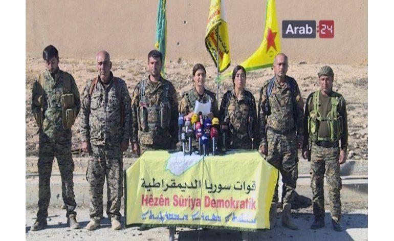Curdos sirios avanzan en su ofensiva hacia Raqqa