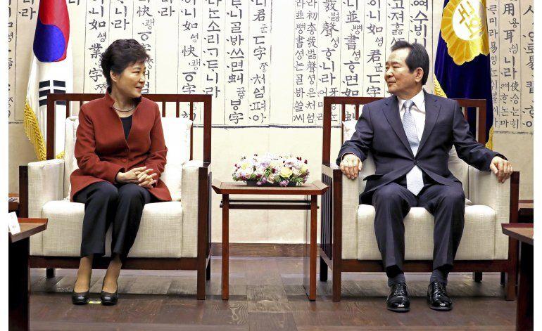 Presidenta surcoreana cede a congreso elegir primer ministro