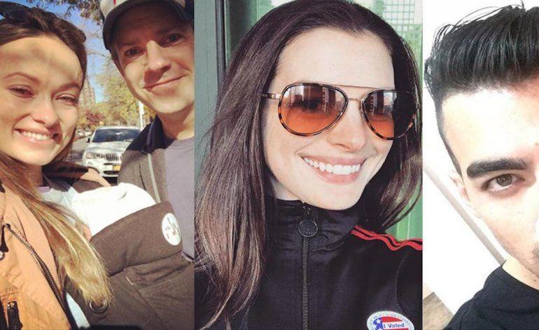 Las selfies de las celebridades tras votar en los EEUU