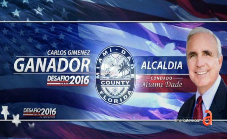 Giménez es reelecto en Miami-Dade