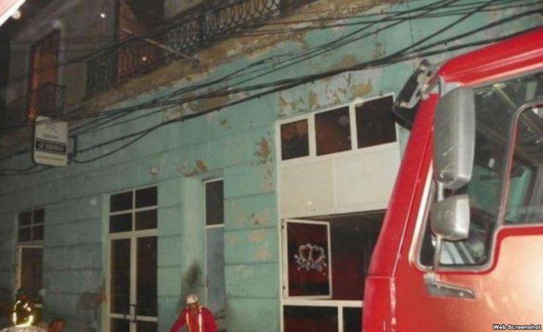 Incendio en céntrica calle de Santiago de Cuba