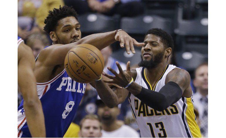 Pacers dominan en tiempo extra, vencen 122-115 a 76ers
