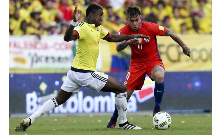 Colombia, sin Mina y Murillo para Argentina